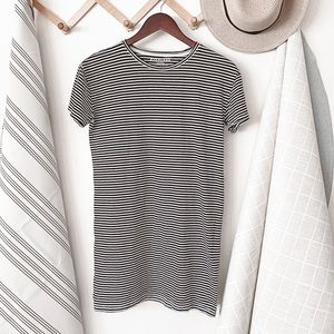 Everlane Black And White Stripe T-shirt Dress